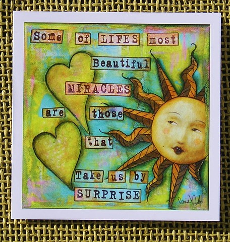 Life's Miracles Blank Art card
