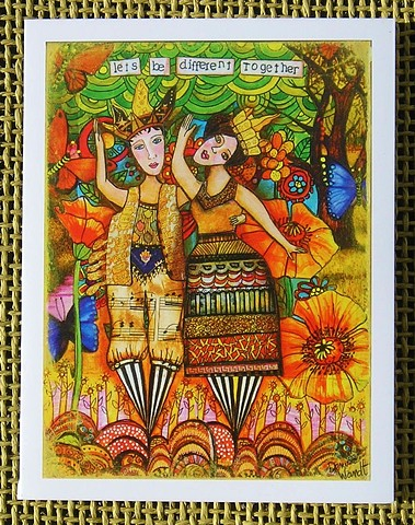 Let's be different Together ! Blank Art card