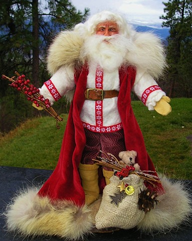 Folk Santa in Red Coat