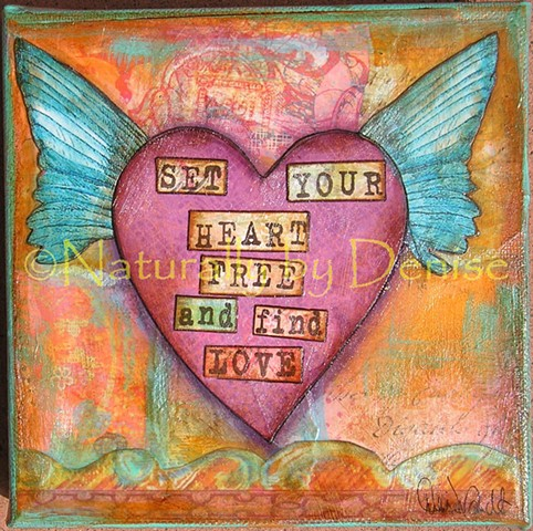 Set Your Heart Free  6 X 6 Art Print