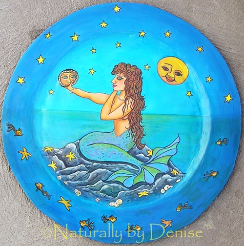 Mermaid in the moon light