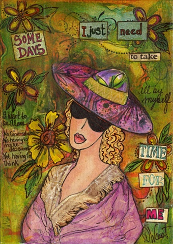 Time for Me Mixed media Collage