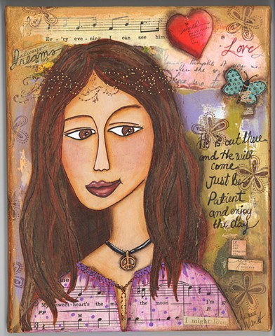Dreamer of Love Art Print 8 x 10""