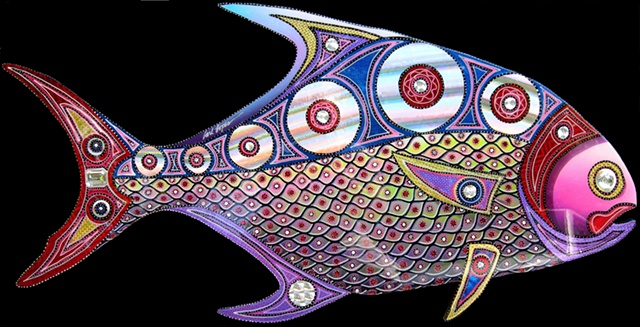 acrylic paintings, fish paintings, Carl Lopes, fine art, wildlife art