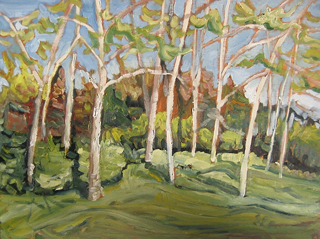 Aspen Meadow plein air study