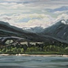 View From Kits Beach plein air study