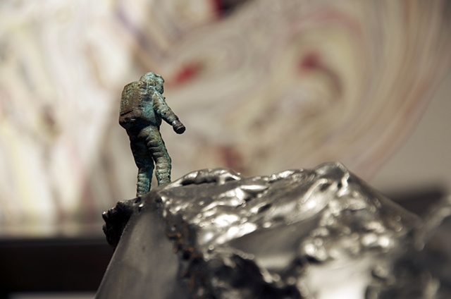 Arrangement 3 (Space Oddity)  Close-up  Bronze Spaceman