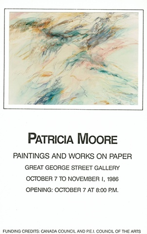 1986 -   Patricia Moore, Works on Paper, Great George Street Gallery, PEI