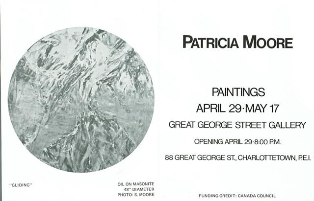 PATRICIA MOORE, PAINTINGS Great George Street Gallery PEI 1980