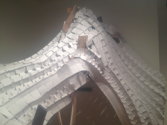 site-specific installation, multiples, found objects sculpture, recycled paper