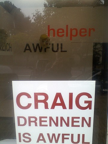 """""""Craig Drennen Is Awful"""" installation view 2"""