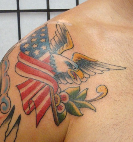 Steve Anderson, 920 tattoo, 920 tattoo co, 920 tattoo company, oshkosh, oshkosh tattoo, oshkosh tattoos, tattoo, tattoos, downtown oshkosh, wi, wisconsin, sailor jerry, Sailor jerry tattoo, traditonal tattoo, eagle tattoo, eagle tattoos