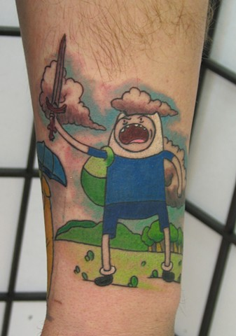 Steve anderson, 920 tattoo, tattoos, tattoo, adventure time, adventure time tattoos, finn tattoos, finn, cartoon tattoos, oshkosh, wisconsin, midwest, fox valley, fox cities