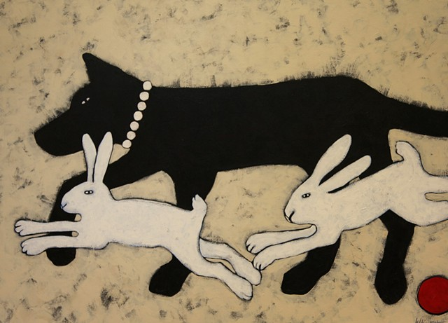 Black Dog, White Rabbits