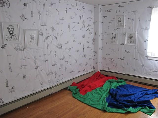 History of American Decorative Arts, installation view, Governor's Island Art Fair.