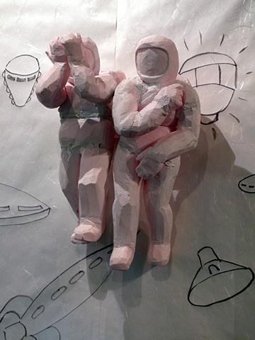 Astronauts/Exiting Eden (after Masaccio)