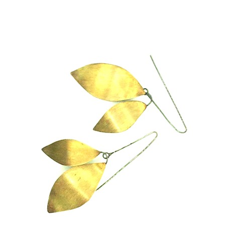 E-HELICOPTER jewelry, leaves, brass, helicopter, seattlemade, dilucedesign, di luce design, jennifer bennett, organic, nature,