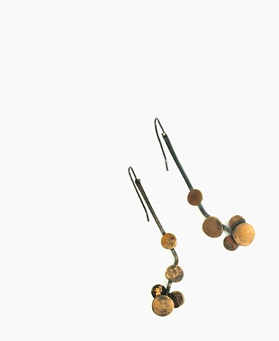 E-MOLECULE Molecule earring by Jennifer Bennett of Di Luce Design