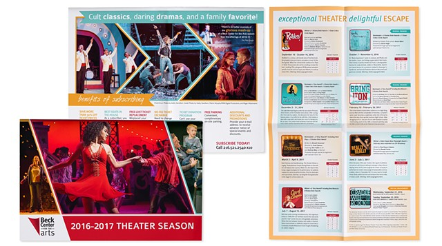 Beck Center Season Brochure