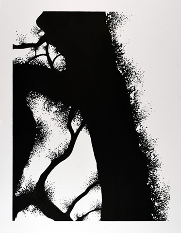 Art Tree Branch abstracts Ink Drawing by Ian Crawley