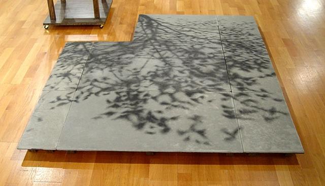 "Ian Crawley Art Sculpture Green show ""Tree of Knowledge (Shadow of Wisdom)"" by Ian Crawley"