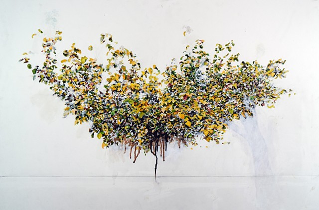 Art Tree Watercolor Painting by Ian Crawley