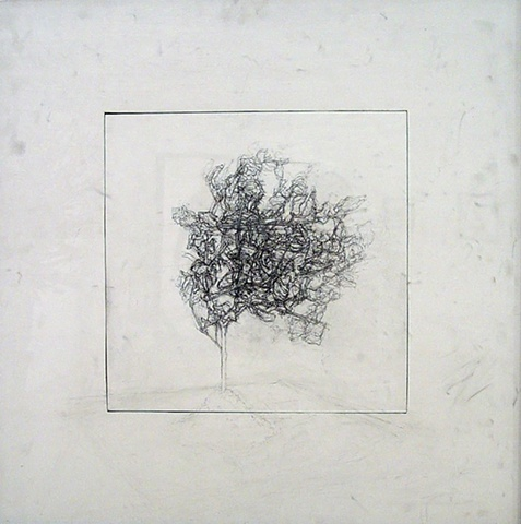 """Ian Crawley Art Graphite Drawing Insignificant Series 1 """"East View"""" by Ian Crawley"""