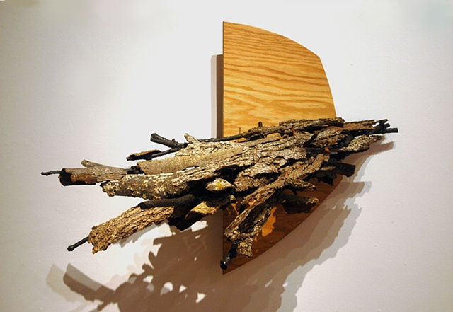 """Ian Crawley Art Sculpture from Odyssey A journey in land """"Setting Sail port side"""" by Ian Crawley"""