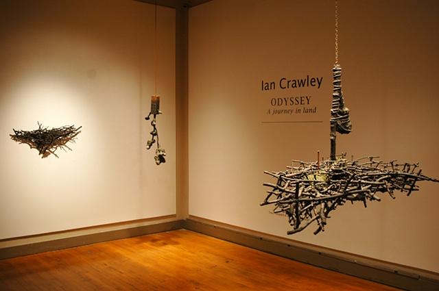 "Ian Crawley Art Sculpture Exhibition "" Odyssey A journey in land"" by Ian Crawley"