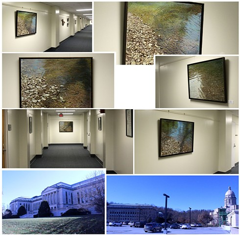 Paintings are display in the Capitaol annex