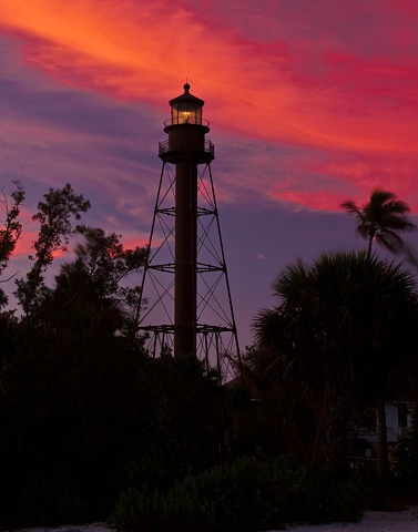 """Sanibel Lighthouse at Sunset"""