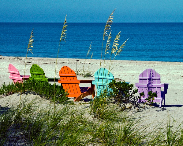 Chairs on Captiva Beach