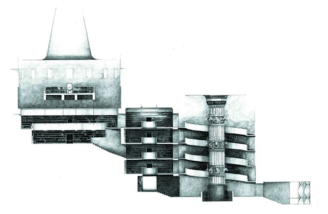 The Institute of Monumentality - Section through the Great Reading Room