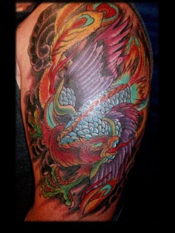 pheonix japanese tattoo by tatupul.com