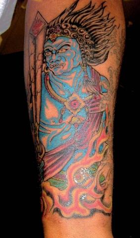 demon japanese tattoo by tatupaul