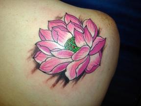 lotus tattoo by tatupaul
