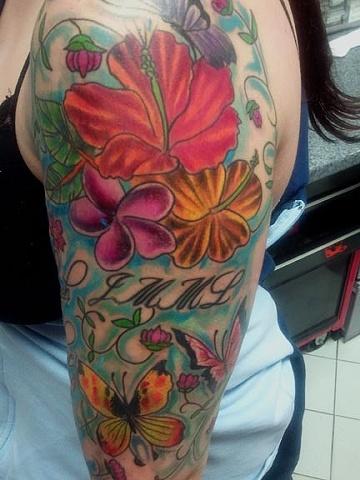 flower tattoo by tatupaul.com