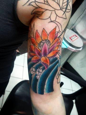 lotus in progress tattoo by tatupaul.com