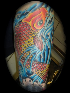 japanese koiiiiiii tattoo by tatupaul