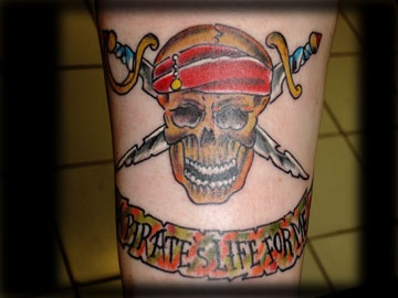 pirates of the carabbian tattoo by tatupaul