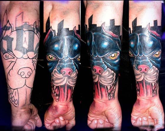 pit coverup tattoo by tatupaul