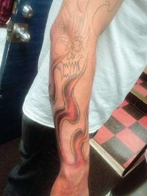 flames tattoo by tatupaul.com