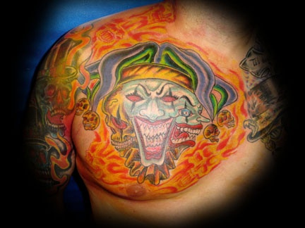joker tattoo by tatupaul