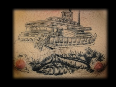 boat tattoo by tatupaul