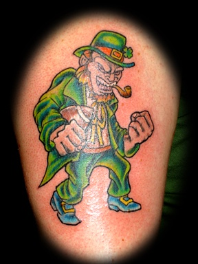 Clockworktattoo Fighting Irish Tattoo By Tatupaul