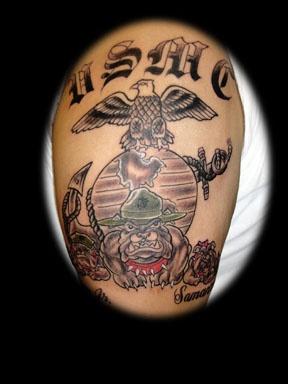 usmc tattoo by tatupaul