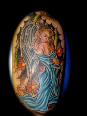 angel tattoo by tatupaul