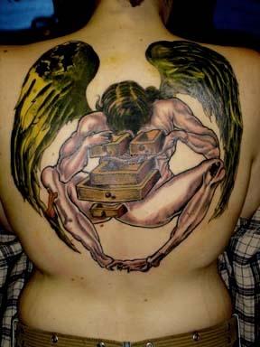 salvador dali angel tattoo by tatupaul
