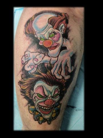 clown tattoo by tatupaul.com