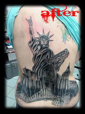 statue of liberty 2 tattoo by tatupaul.com
